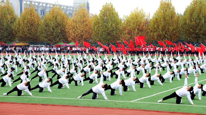 黄淮学院第十四届运动会隆重开幕