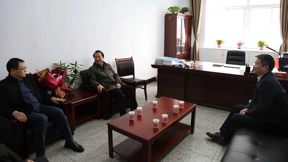 驻马店市领导到黄淮学院开展新春