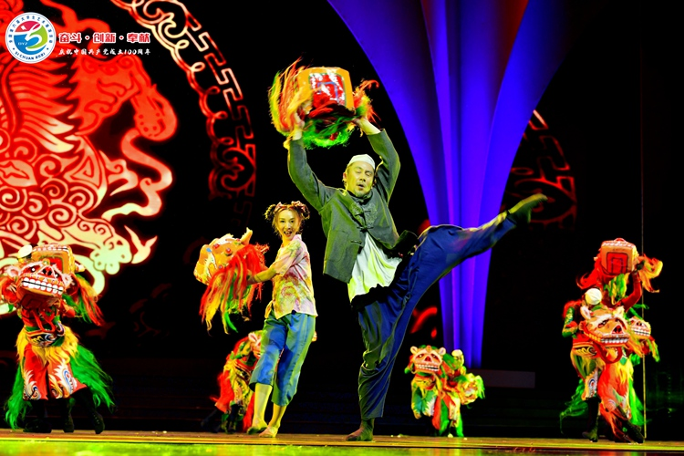 黄淮学院舞蹈《文狮少年》惊艳全国第六届大学生艺术展演